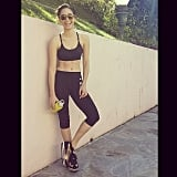 Emmy Rossum worked on her fitness. Source: Instagram user emmyrossum