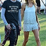 Michael Polish and Kate Bosworth were one of the many couples at Coachella in 2013.