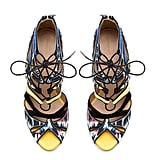 These Zara multicolored lace-up sandals ($100, originally $129) will definitely take your look to fabulous new heights. How can they not with all that detail?