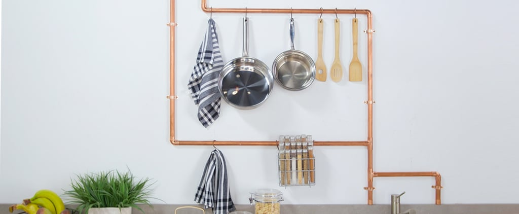DIY Copper Pipe Kitchen Rack
