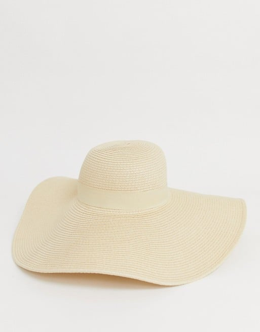 South Beach Exclusive Natural Straw Floppy Hat