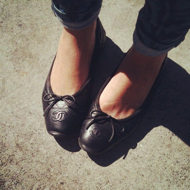 We spied these pretty Chanel ballet flats on the street near our offices. Cue shoe envy.