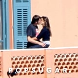 Javier kissed Penélope on a balcony in Nice in March 2008.