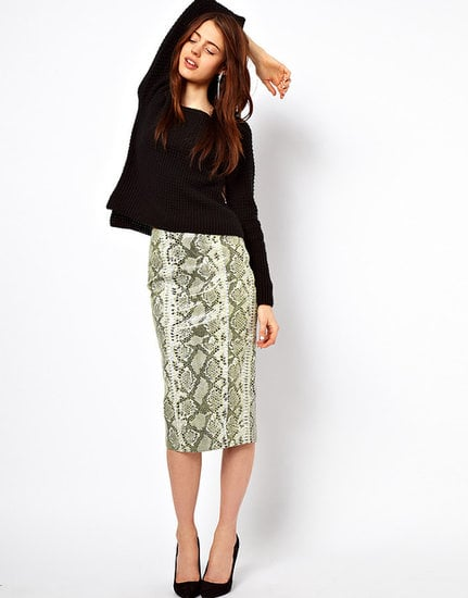 Don't let the bold print on this ASOS Pencil Skirt in Snake Effect Leather ($161) intimidate you — just wear it with a t-shirt or a baggy sweater for a more low-key vibe.