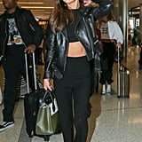 She Wore Her Sexiest Airport Outfit Yet