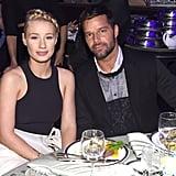 Iggy Azalea and Ricky Martin sat together at Clive Davis's gala.
