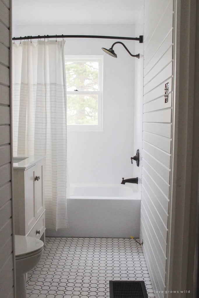 """When it comes to bathing, bigger is better. Katharine says that """"walk-in showers are widely popular, while oversize bathtubs are also frequently sought after."""" Her clients gravitate toward large showerheads, like a rainshower, but notes that they """"must be in proportion to the shower itself."""" For the bathtub, a simple white model with clean lines is the way to go for an updated look. If budget and space allow for a separate tub, a master bathroom looks fully upgraded with a freestanding or inset style. In an apartment setting where bathrooms are small and limited, it's tempting to remove the bath in favor of a large walk-in. But Katharine cautions that the lack of a tub may be a deal-breaker for buyers with young children. Hand showers are also a great add-on for children, and she says, """"Don't forget pets!"""""""