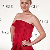 Looking red hot and glam at the Vogue Australia 50th Anniversary Dinner in July 2009.