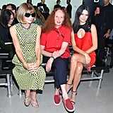 Kendall skipped out on the catwalk at Calvin Klein, choosing to sit front row alongside Anna Wintour and Grace Coddington instead.