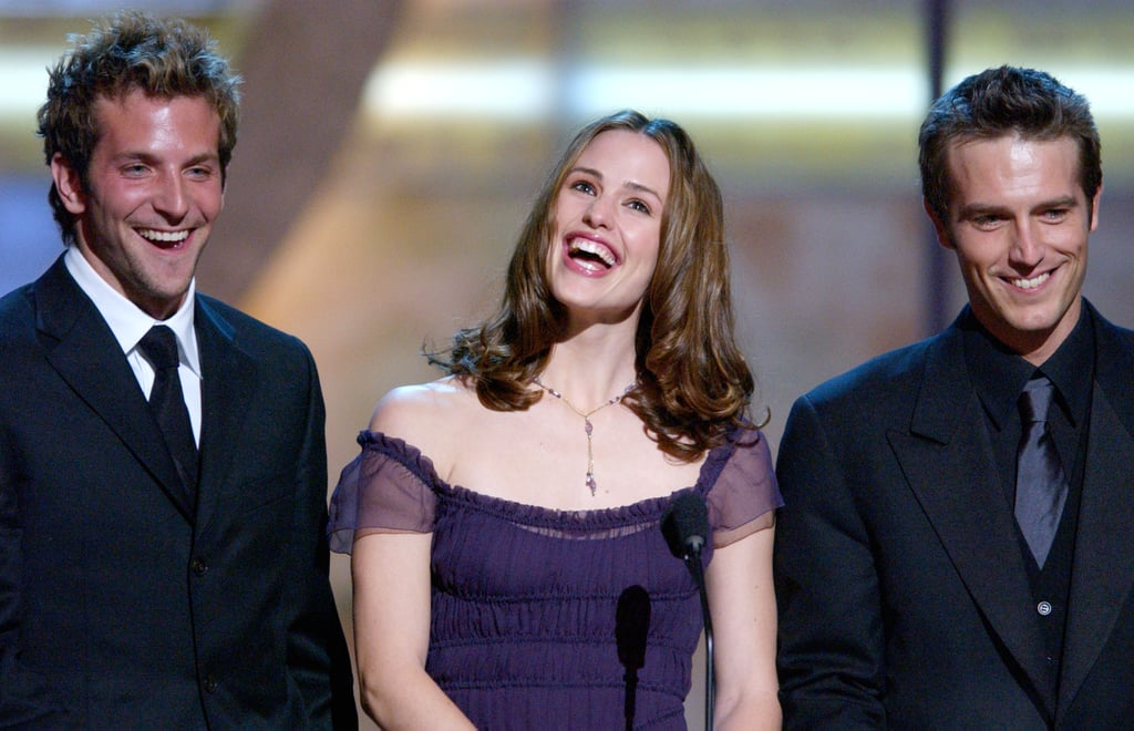 Alias stars Jennifer Garner, Bradley Cooper, and Michael Vartan accepted the award for favourite new television dramatic series in 2002.