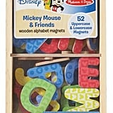 Disney Mickey Mouse and Friends Wooden Alphabet Magnets
