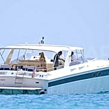 Avril Lavigne was spotted on a yacht in St. Tropez.