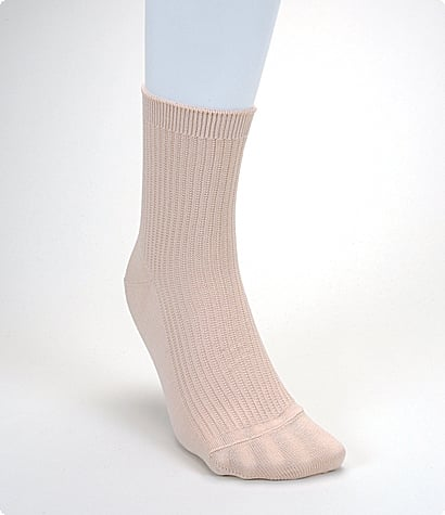 Plain ribbed socks, approx $14, You can't go wrong with a plain ribbed pair of anklets.
