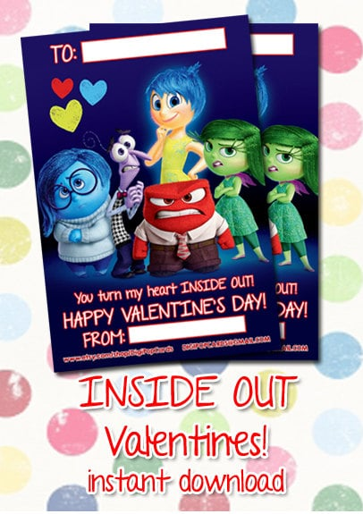 Inside Out Valentine's Day Cards