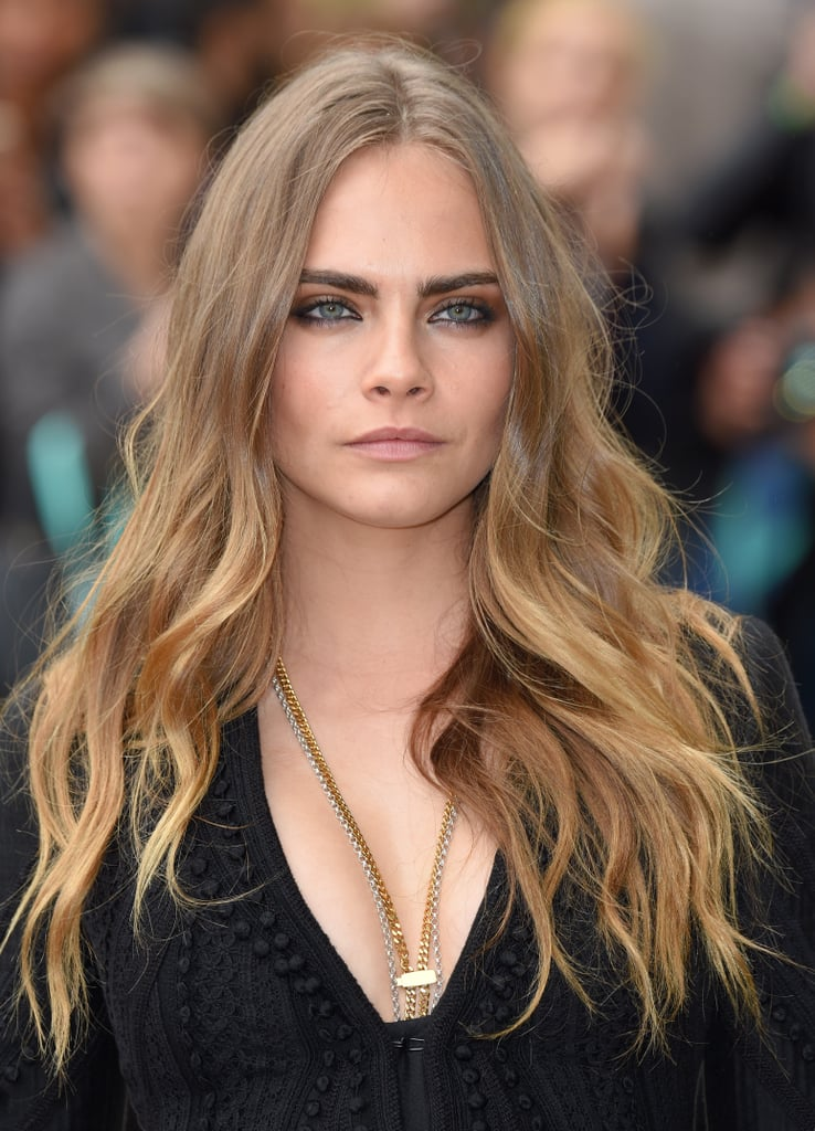 Long Middle Parting Cara Delevingne Hair Transformation Popsugar