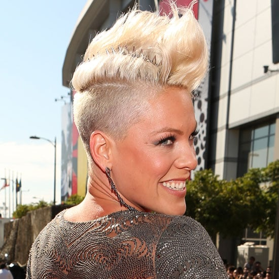 Get the Look at Home Pink's Undercut and Bleach Blonde Quiff