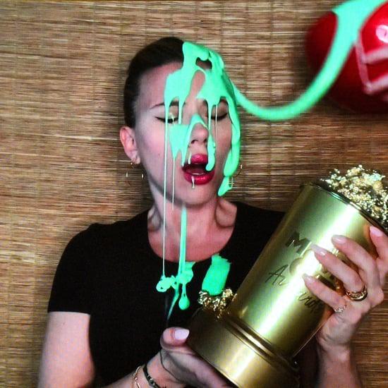 Scarlett Johansson Gets Slimed by Colin Jost at MTV Awards