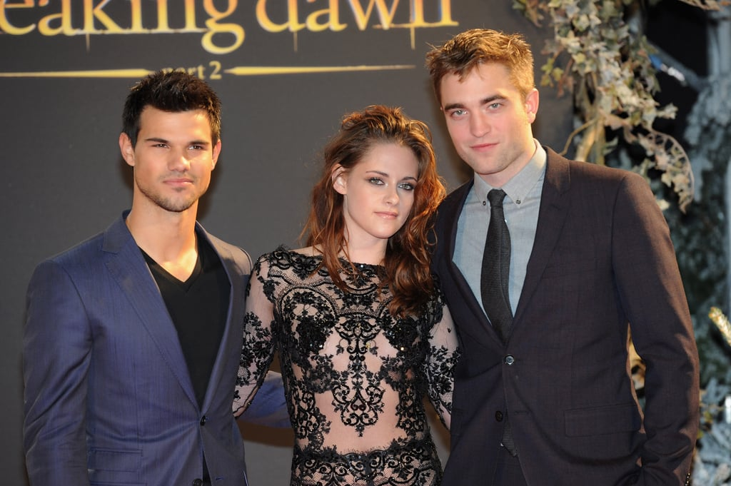 Taylor Lautner, Kristen Stewart, and Robert Pattinson got together in London.