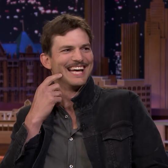 """Ashton Kutcher Shares the Story Behind His """"Spite Stache"""""""