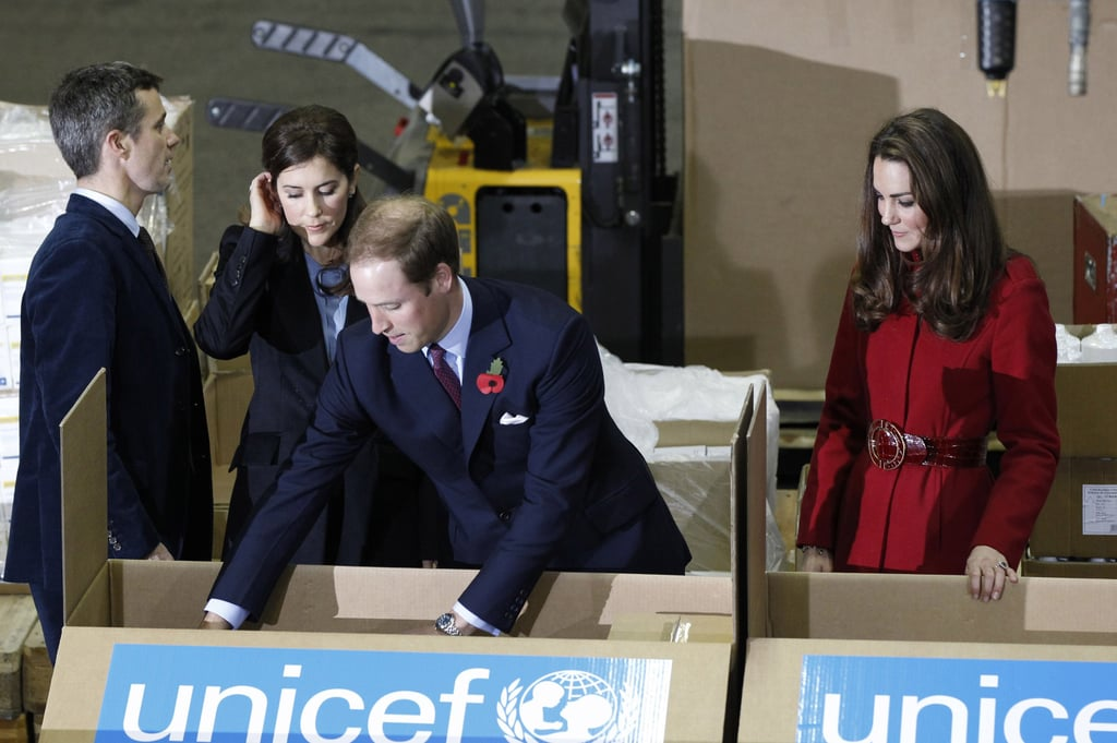 Kate Middleton and Prince William checked out the supplies that UNICEF would offer to East Africa.
