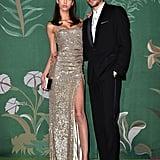 Yasmin Wijnaldum and G-Eazy at The Green Carpet Fashion Awards 2019
