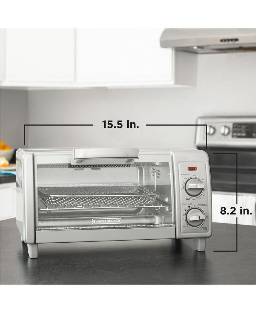 Black & Decker TO1785SG Crisp N' Bake Air Fry 4 Slice Toaster Oven