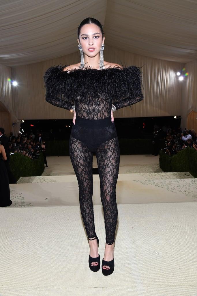Olivia Rodrigo's Saint Laurent Catsuit at the Met Gala 2021