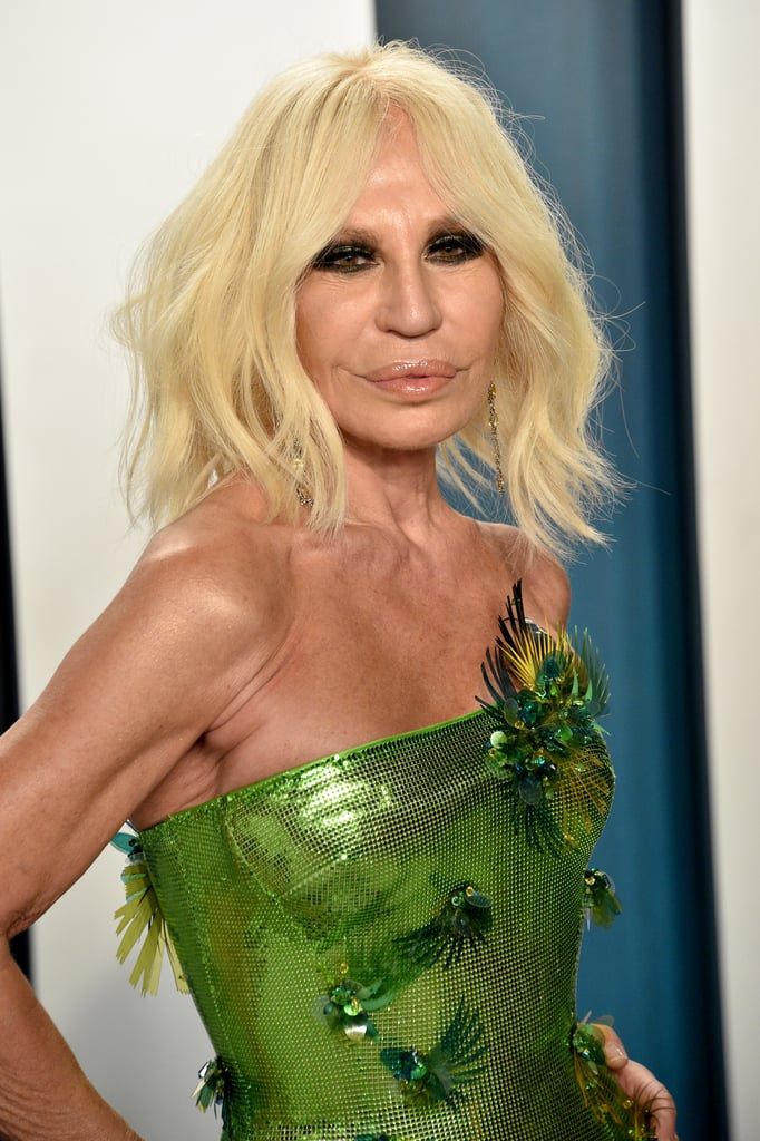 Donatella Versace at the Vanity Fair Oscars Afterparty 2020