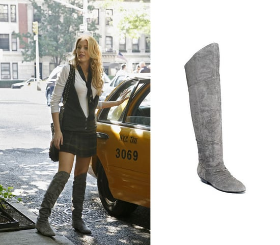 Found! Serena van der Woodsen's Grey Suede Over-the-Knee Boots