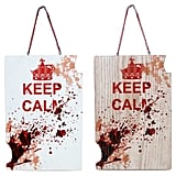 """Zombie """"Keep Calm"""" Wooden Sign"""