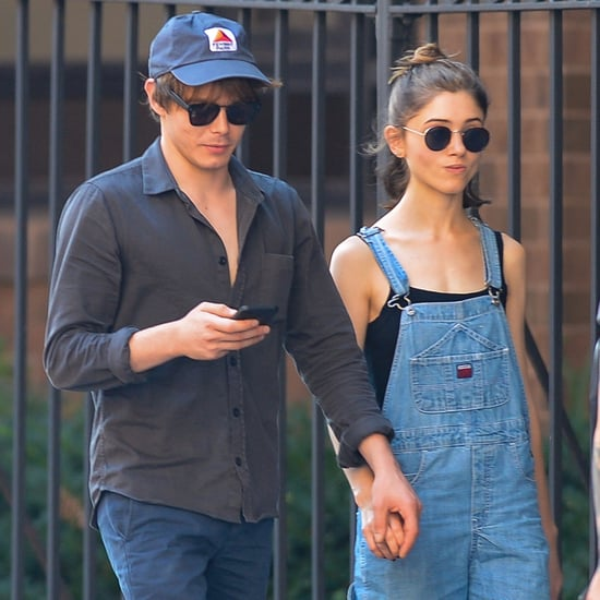 Natalia Dyer and Charlie Heaton Holding Hands in NYC 2017
