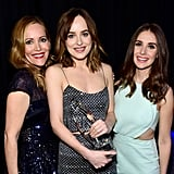 Leslie Mann and Alison Brie posed with favorite dramatic movie actress winner Dakota Johnson.
