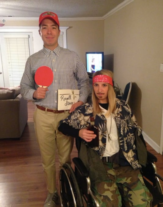 Forrest Gump and Lt. Dan Taylor  sc 1 st  Popsugar : couples homemade costume ideas  - Germanpascual.Com