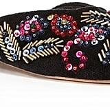 Loeffler Randall Quin Velvet Embellished Mules