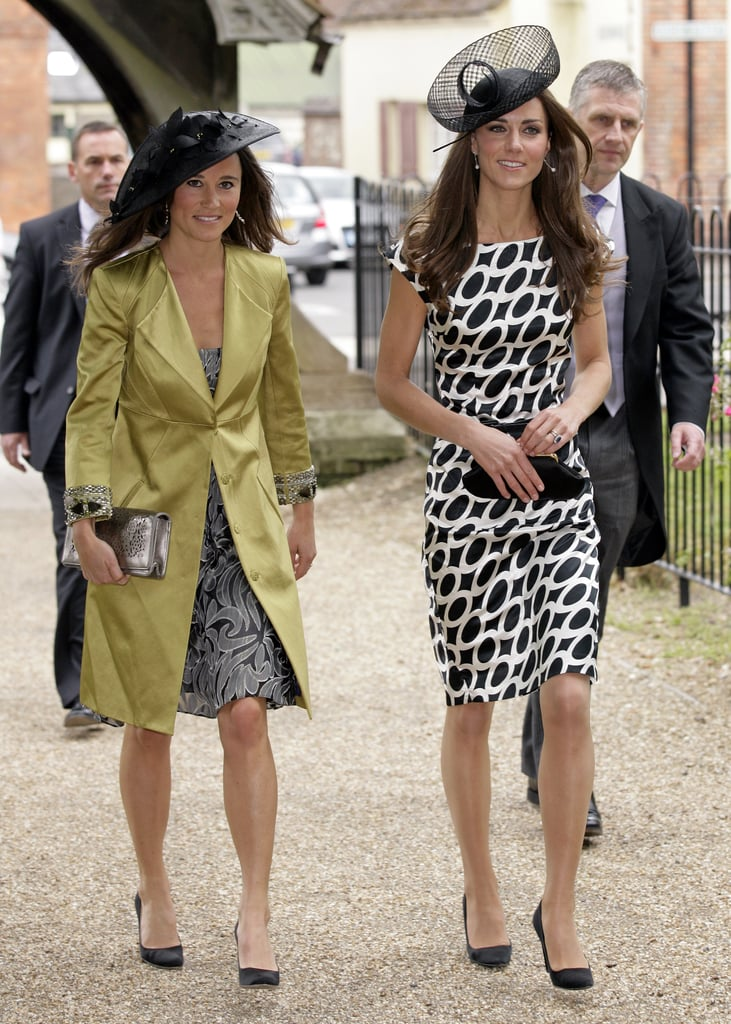 On June 2011, Kate Middleton joined her sister, Pippa Middleton, when they attended a friend's wedding in Lambourn, England.