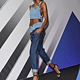 Denim times two: Rihanna For River Island Fall 2013.