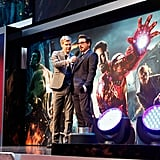 Robert Downey Jr. had fun at the premiere of The Avengers in London.