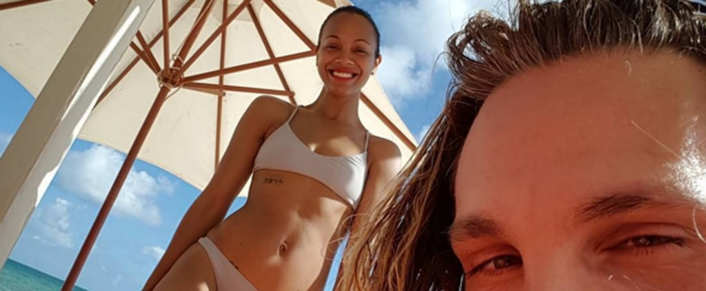 Zoe Saldana's Affordable Bikini Is All You Need For a Carefree Winter Getaway