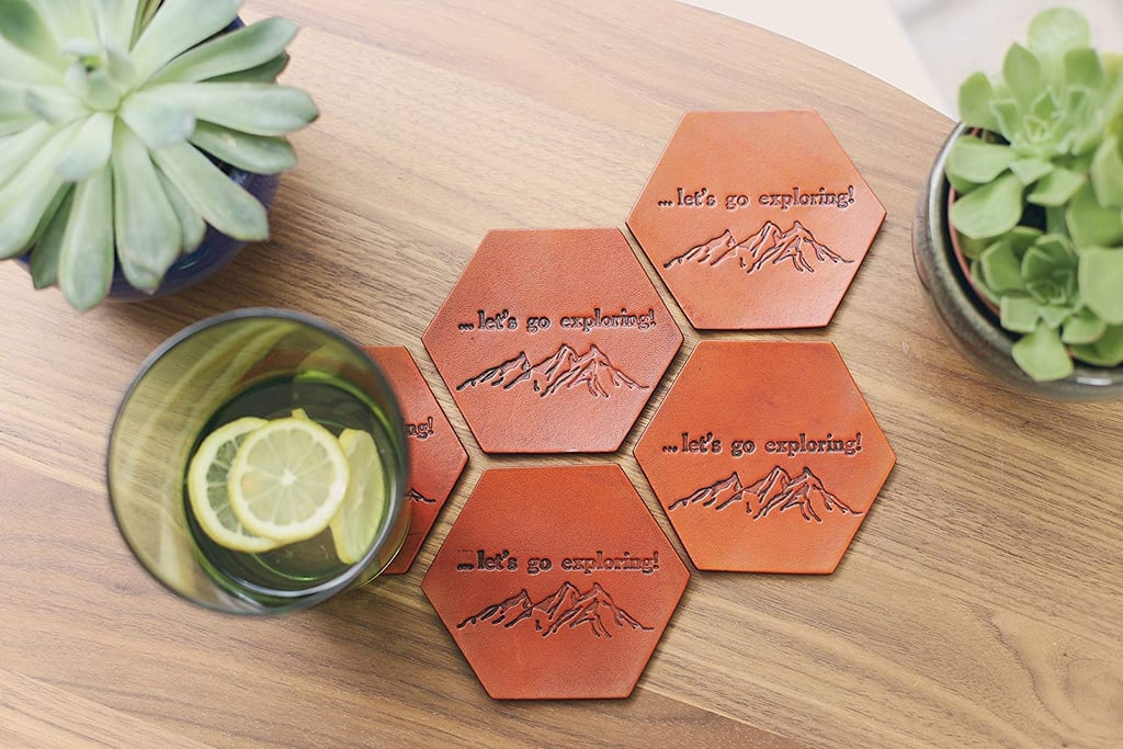RSVPhandcrafted Personalized Leather Coasters