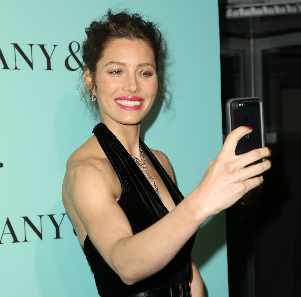 Jessica Biel got snap happy in NYC in April 2014 when she took a picture of herself on the red carpet.