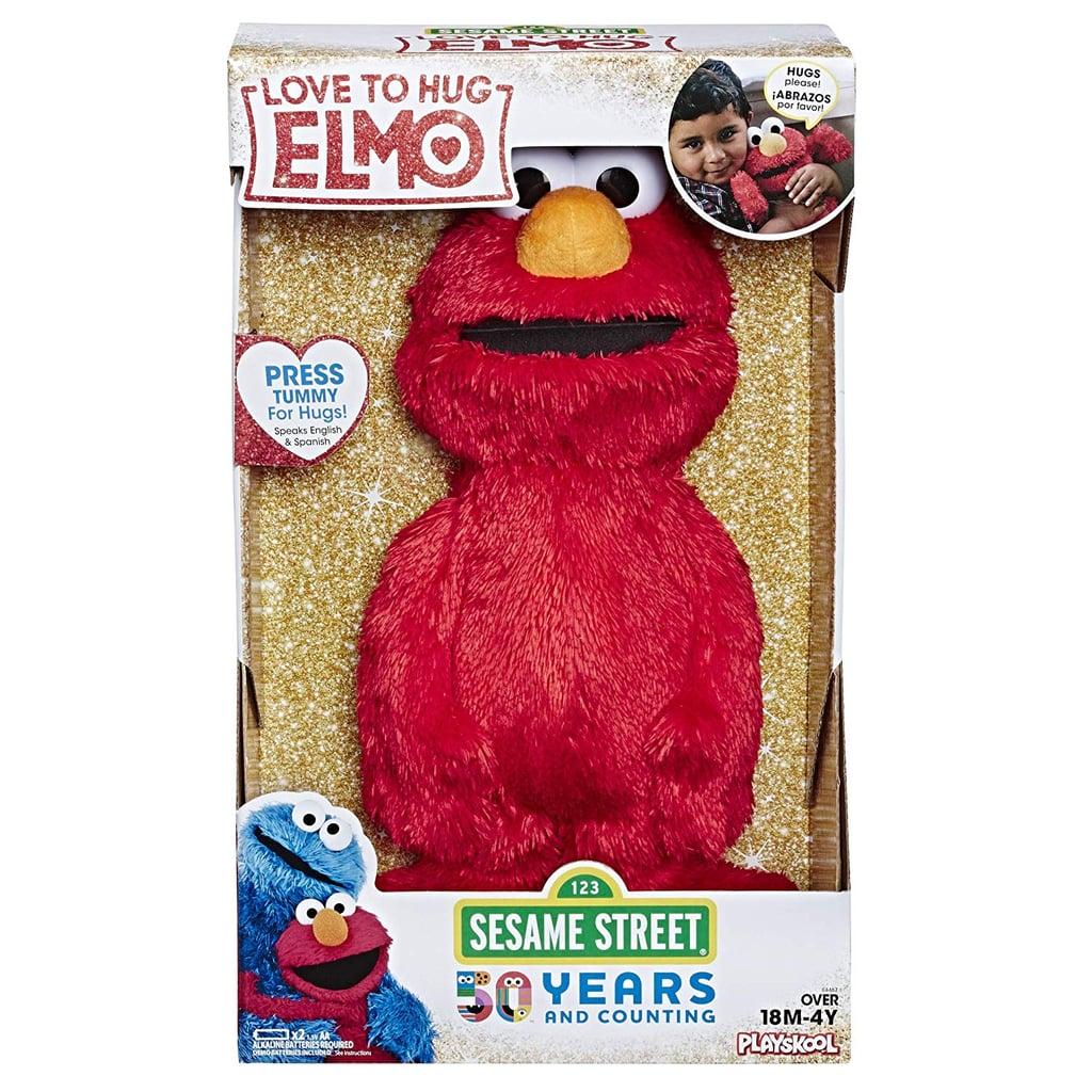 "For 3-Year-Olds: Sesame Street Love to Hug Elmo Talking, Singing, Hugging 14"" Plush Toy"