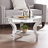 Southern Enterprises Ladislas Glam Mirrored Round Coffee Table