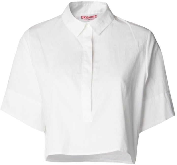 Organic by John Patrick Cropped Button-Down Shirt
