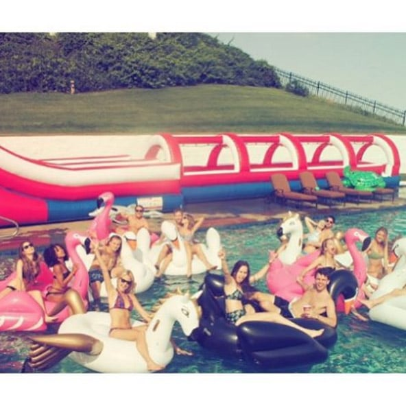 """When They Coined the Term """"Swan Goals"""" With Their Epic Floaties"""