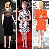 Follow Emma Stone as she travels around the world on the promo tour for The Amazing Spider-Man.