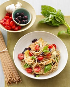 Fast & Easy Dinner: Pasta with Artichokes, Olives, and Tomatoes