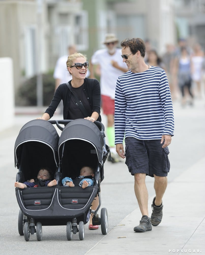 Anna Paquin and Stephen Moyer took their twins out in Santa Monica.