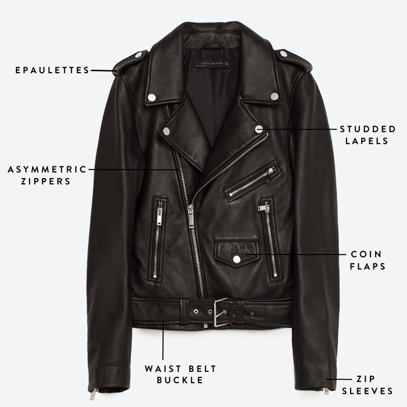 f69b1b3477 Get to know the exact parts that make up the perfect moto leather jacket.  Whether it s a polished exterior