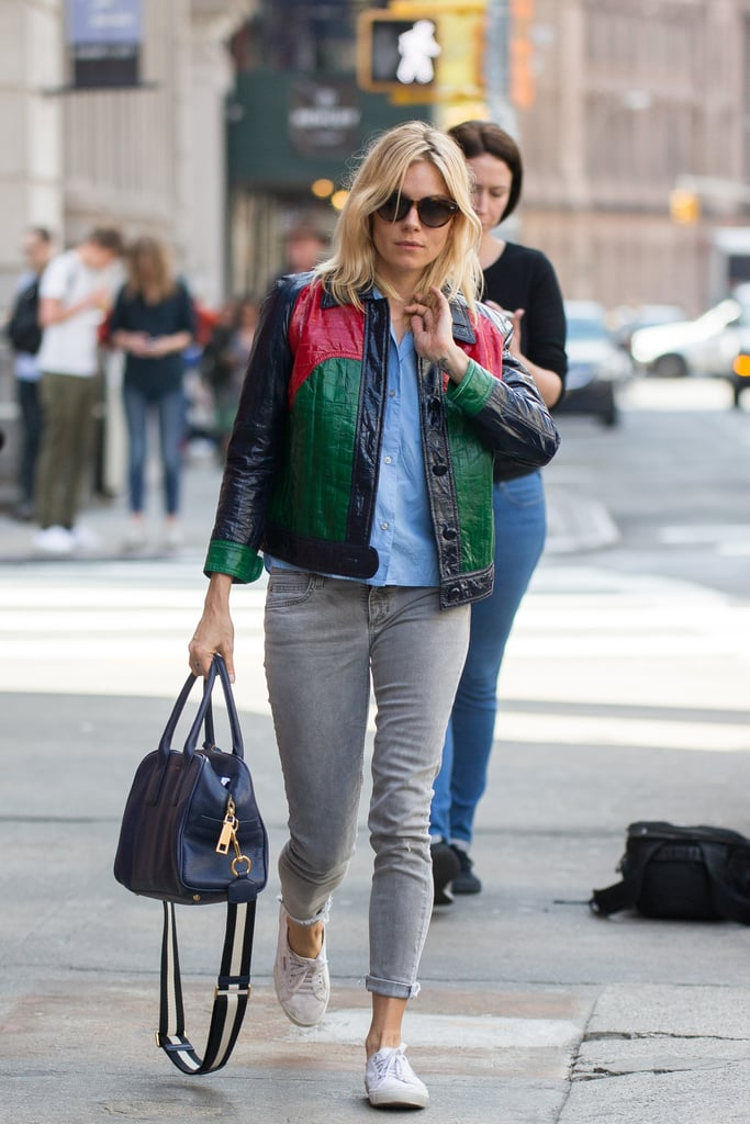Sienna Miller Gucci Jacket April 2016 Popsugar Fashion