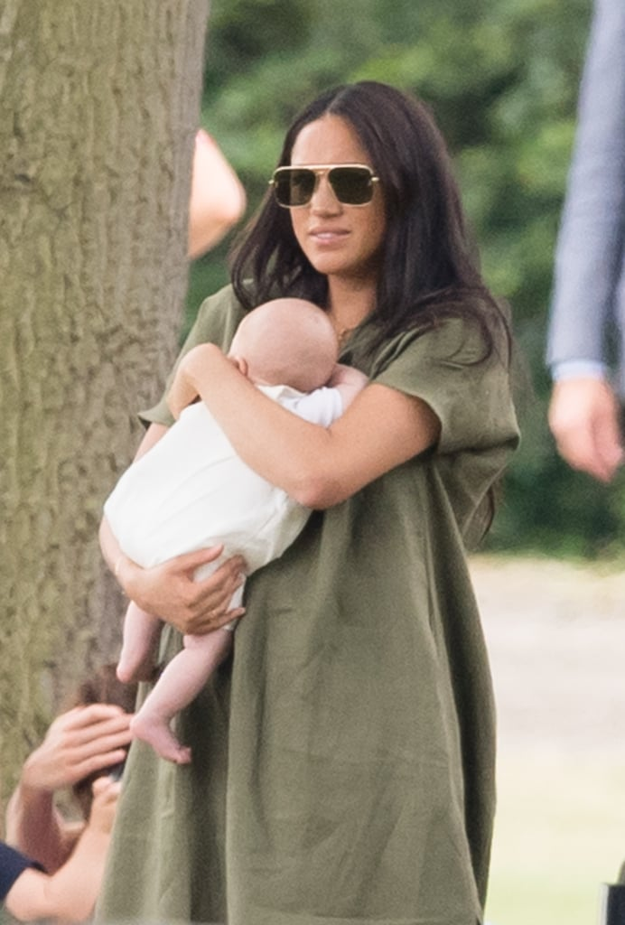 Meghan Markle at the Polo in a Green Dress